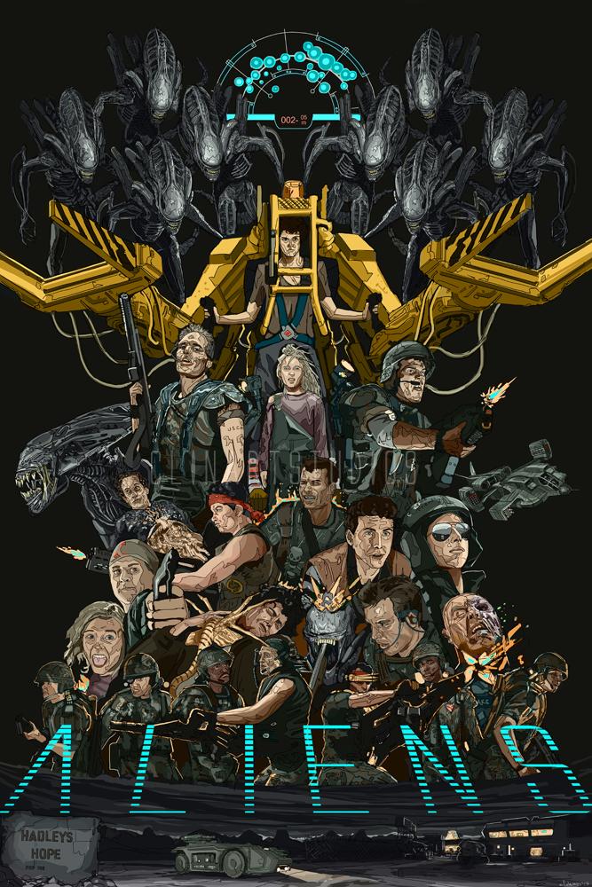 Aliens 1986 Poster Print By Clinartstudios Xenomorph