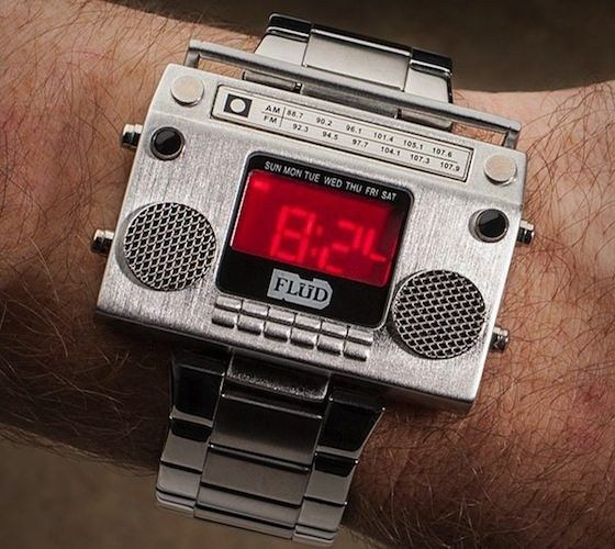 Boombox Wristwatch   Some Of The Best Fancy Watches Gadgets