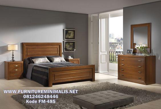 Ranjang Dipan Kayu Jati Motif Minimalis Terbaru Bedroom