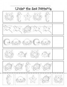 ocean animal worksheet 1 summer other themes preschool worksheets animal worksheets. Black Bedroom Furniture Sets. Home Design Ideas