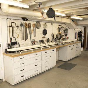 Eye Candy 10 Drool Worthy Home Woodworking Shops Basement Ideasgarage Ideasbasement Wallsworkshop Organizationworkshop