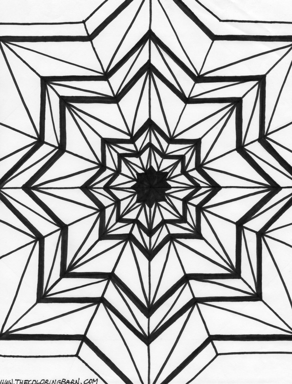 Kaleidoscope 17 coloring page 4k desktop backgrounds adult coloring pages doodles mandalas