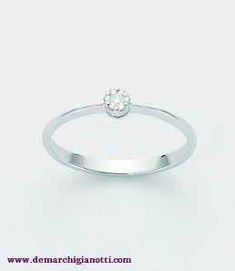 Miluna Anello Oro Bianco E Diamanti Modello Lid2386 Www Demarchigianotti Com Gioielli Oro Bianco