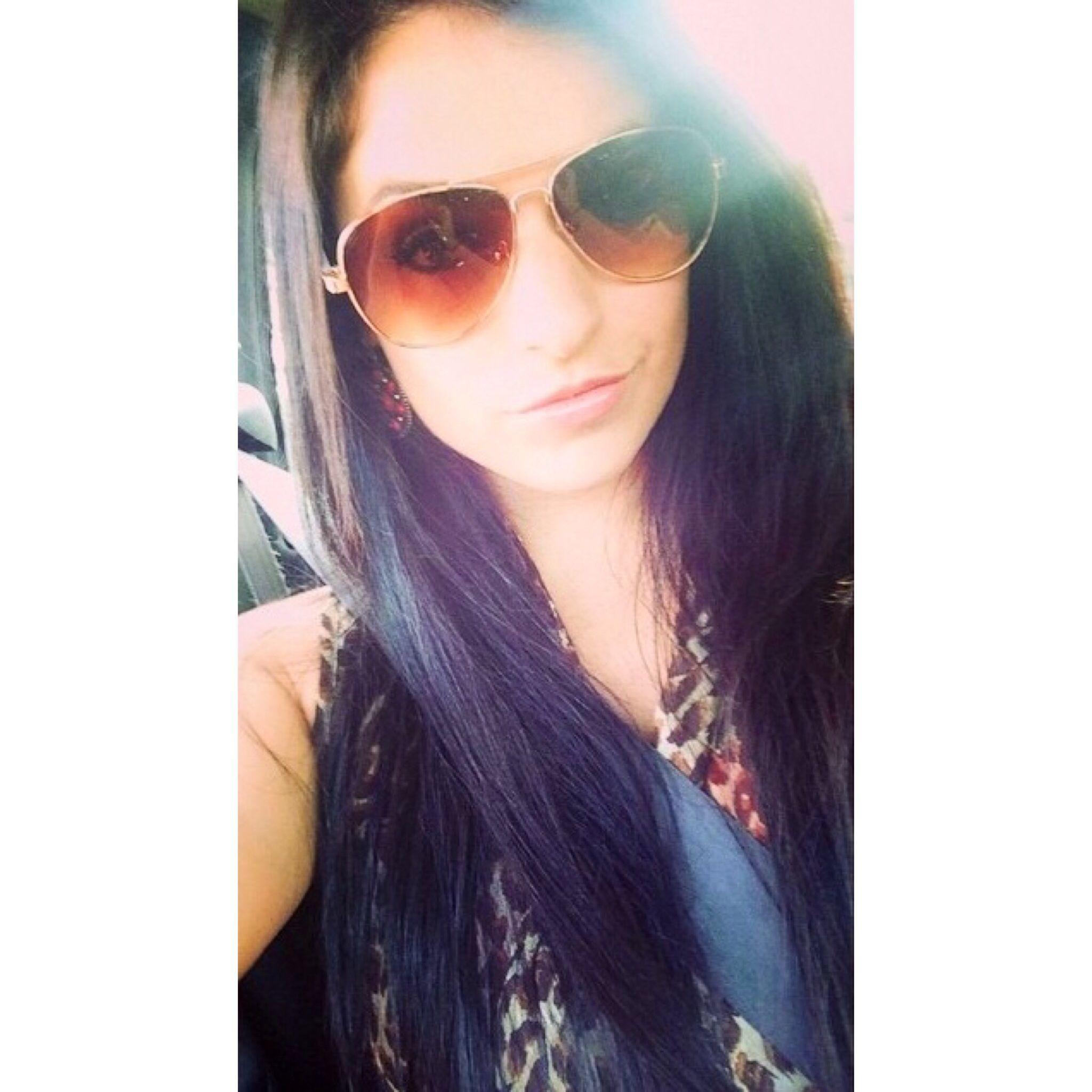 Long dark straight hair and cute sunglasses hair pinterest