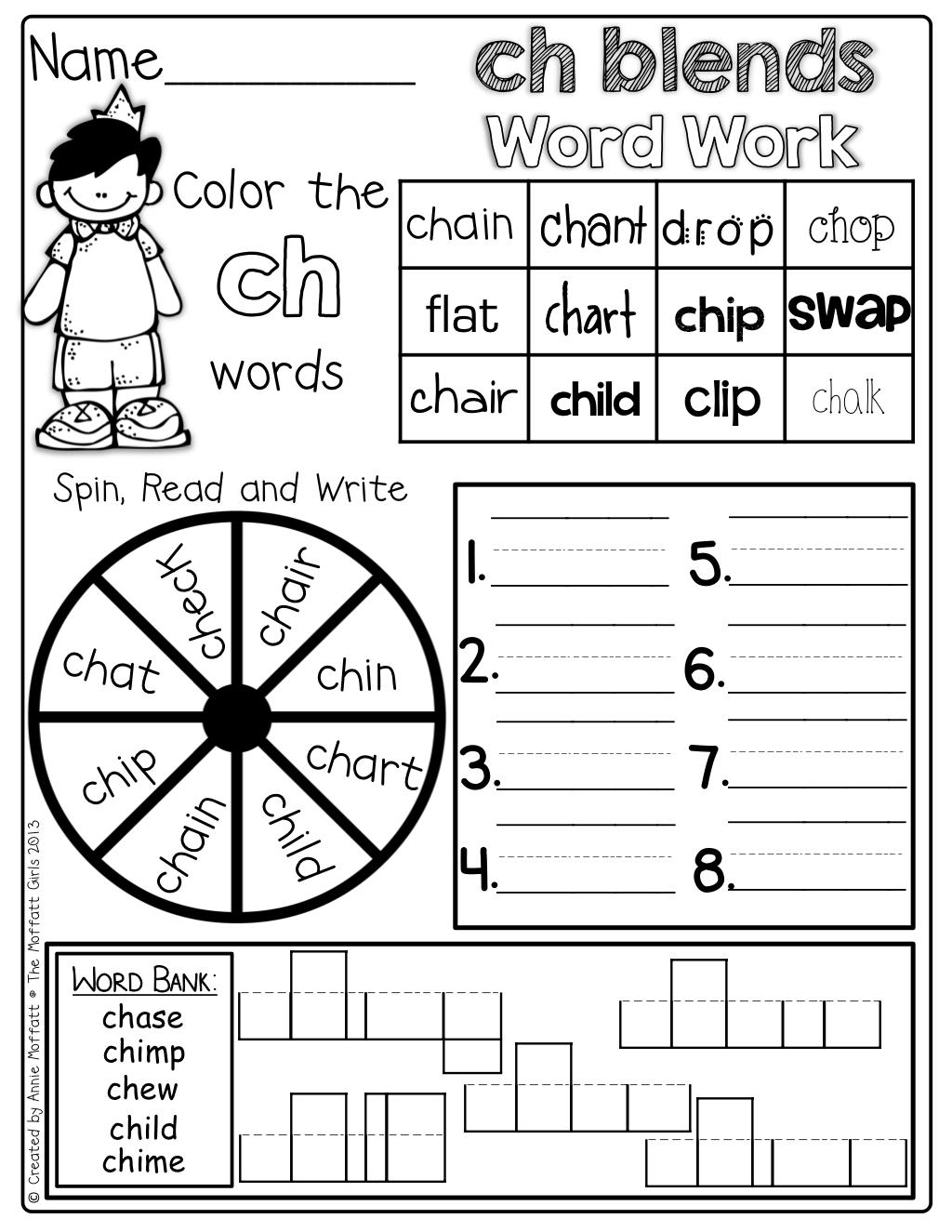 Word Work at its BEST! Blends, Digraphs, CVC words, CVCe