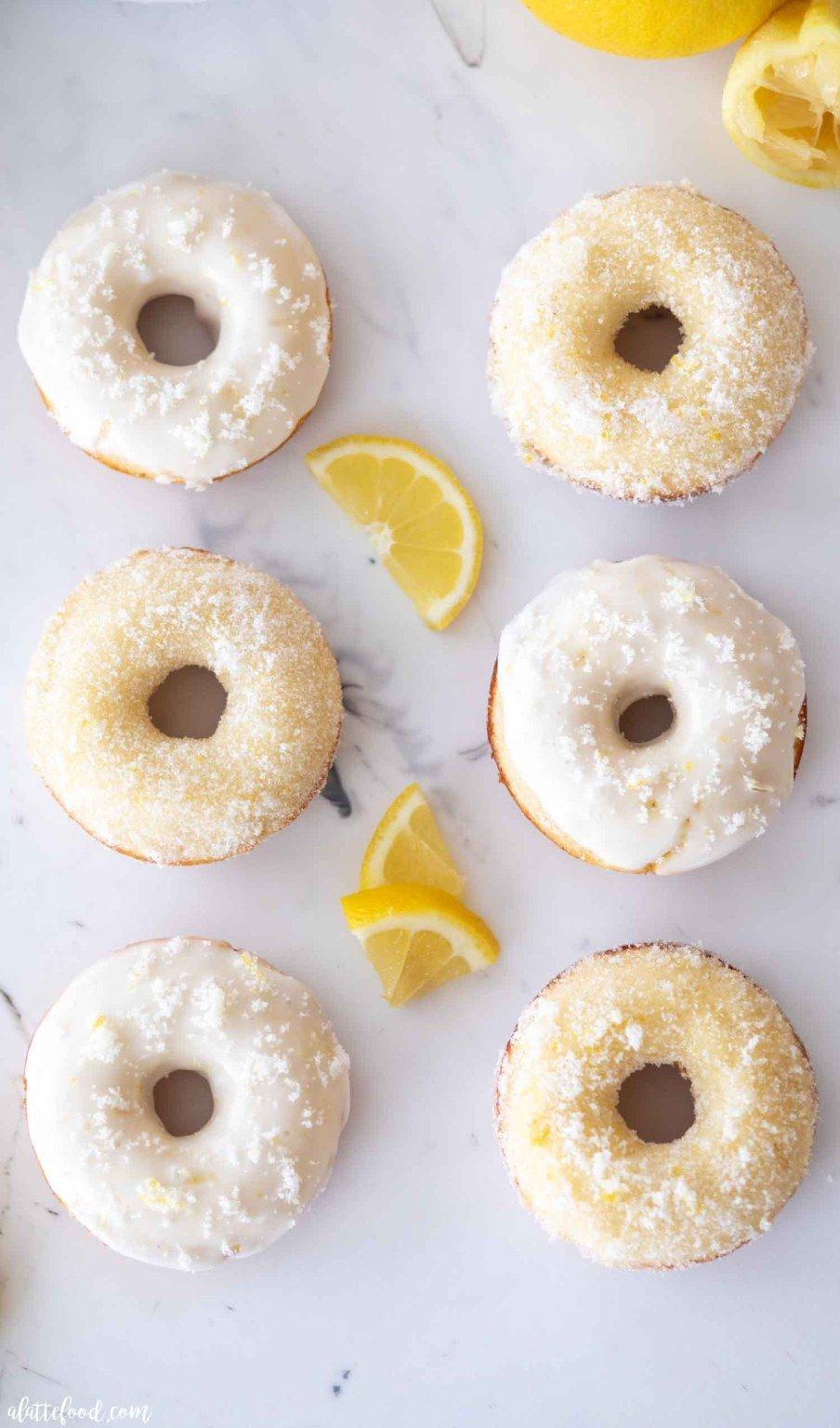 This Baked Lemon Donuts Recipe Is Topped With A Lemon Glaze Or It Can Be Topped With Lemon Sugar Like Cinna In 2020 Donut Recipes Easy Donut Recipe Buttermilk Recipes