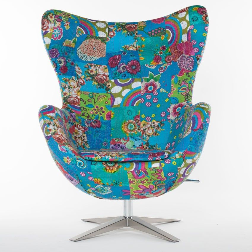Swivel Chair Indian Patchwork Fabric Patchwork fabric