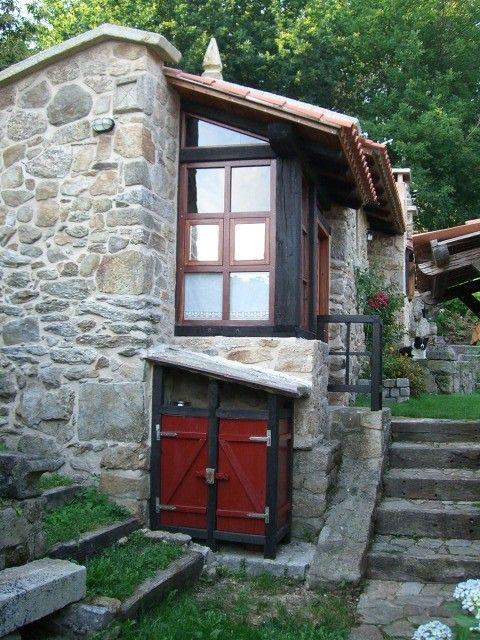 Exterior casa rural para 2 personas y con 1 ba o en poio - Casas rurales ecologicas ...