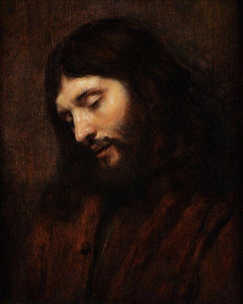 Rembrandt Van Rijn Jesus Kristus Portraet Malerier