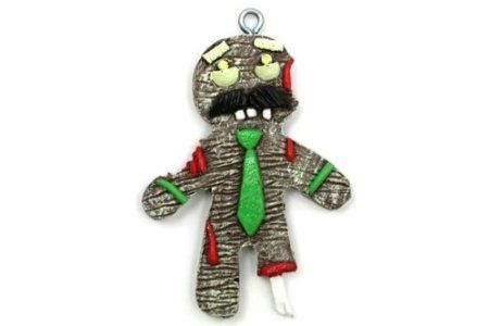 Gingerbread Zombie Dad Christmas ornament - perfect for a zombie inspired Christmas tree.