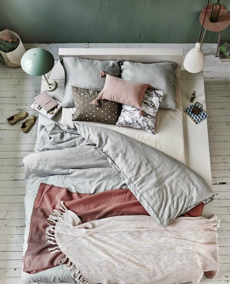 Pastel design bedroom.