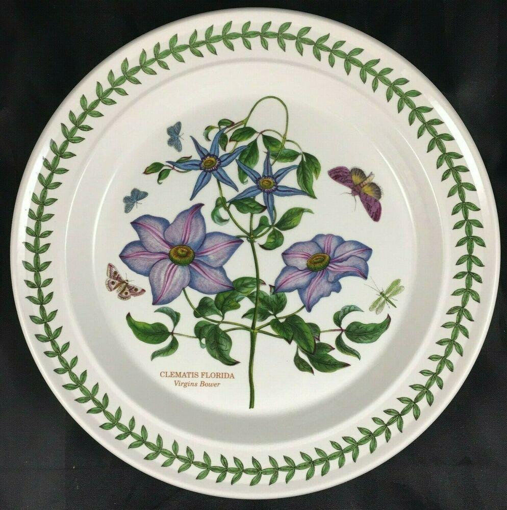 Portmeirion Botanic Garden Clematis Florida Dinner Plate Made In