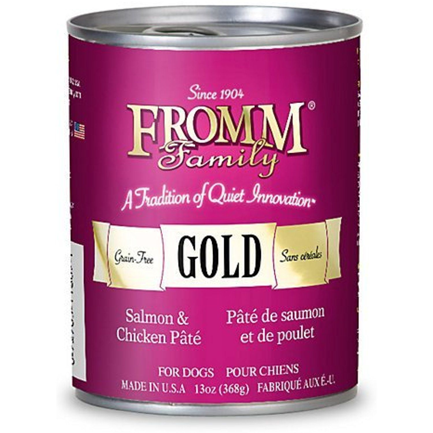 Fromm Gold Salmon/Chicken Can Dog Food Case,13 oz. (12