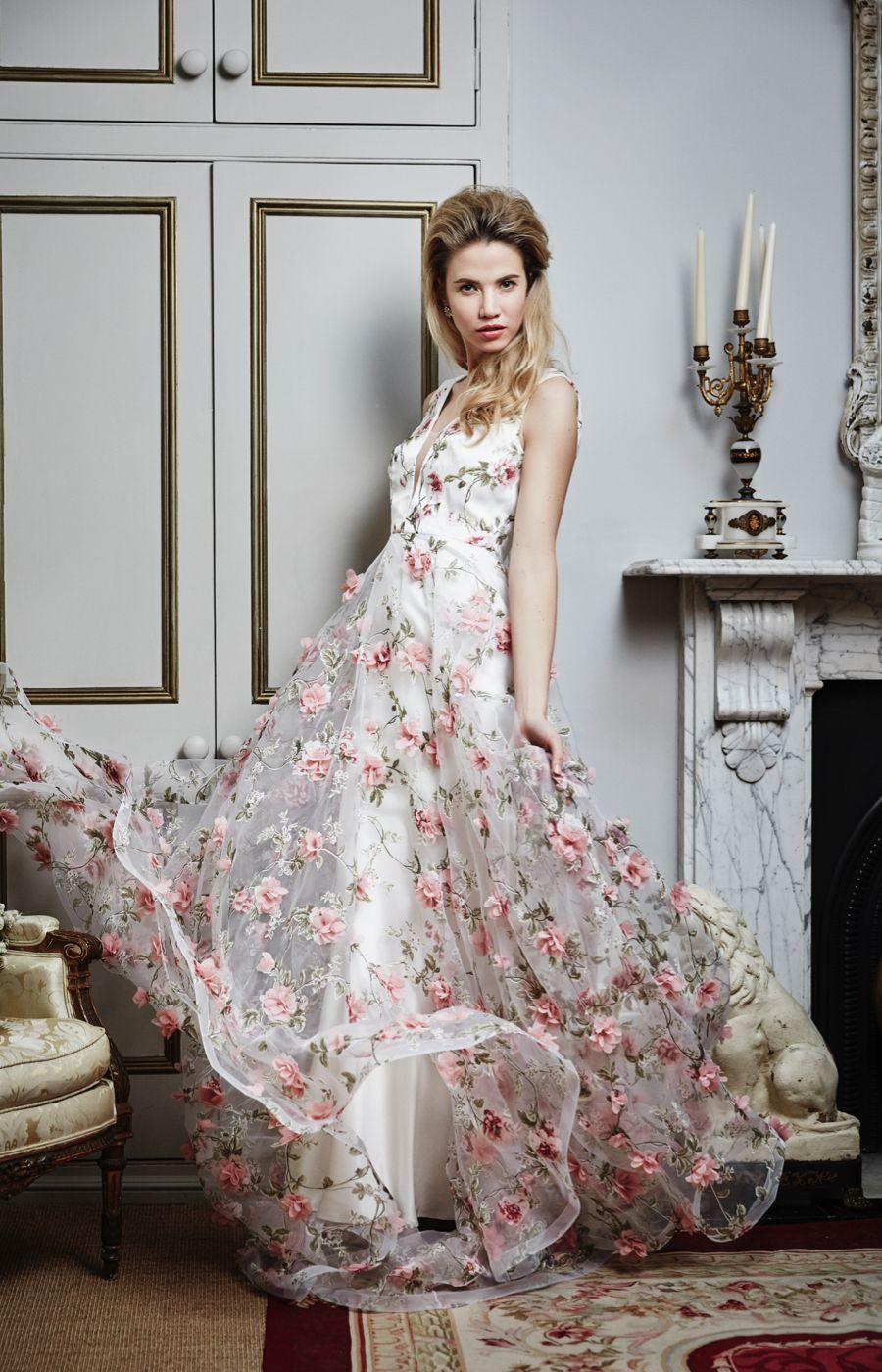 Flora, Savin London. floral dress from Savin