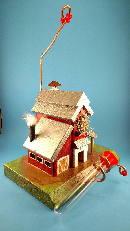 Deluxe Barn Hummingbird Feeder by ParrtclrHummingbird on