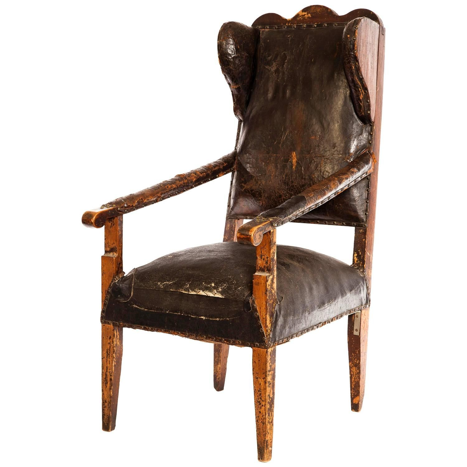 french leather chair wingback chairs wood cabins and shaker style