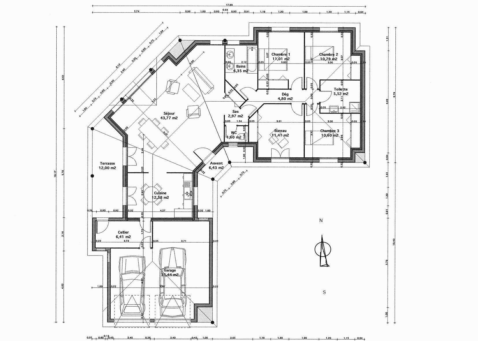 plan de maison à étage gratuit pdf