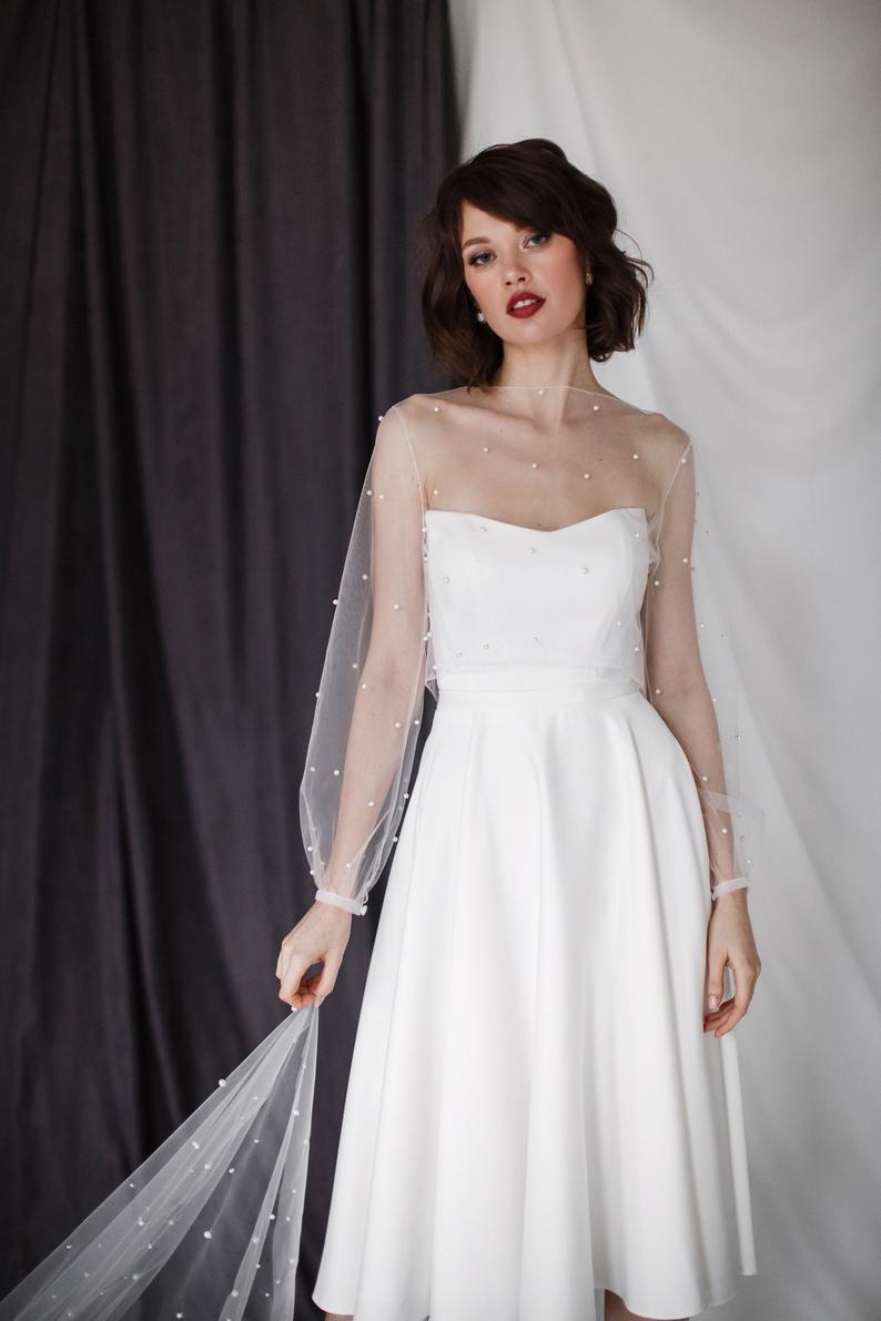 Romantic Wedding Dress Anessa Midi Simple Midi Wedding Etsy Dresses Wedding Dresses Romantic Summer Wedding Dress [ 1191 x 794 Pixel ]