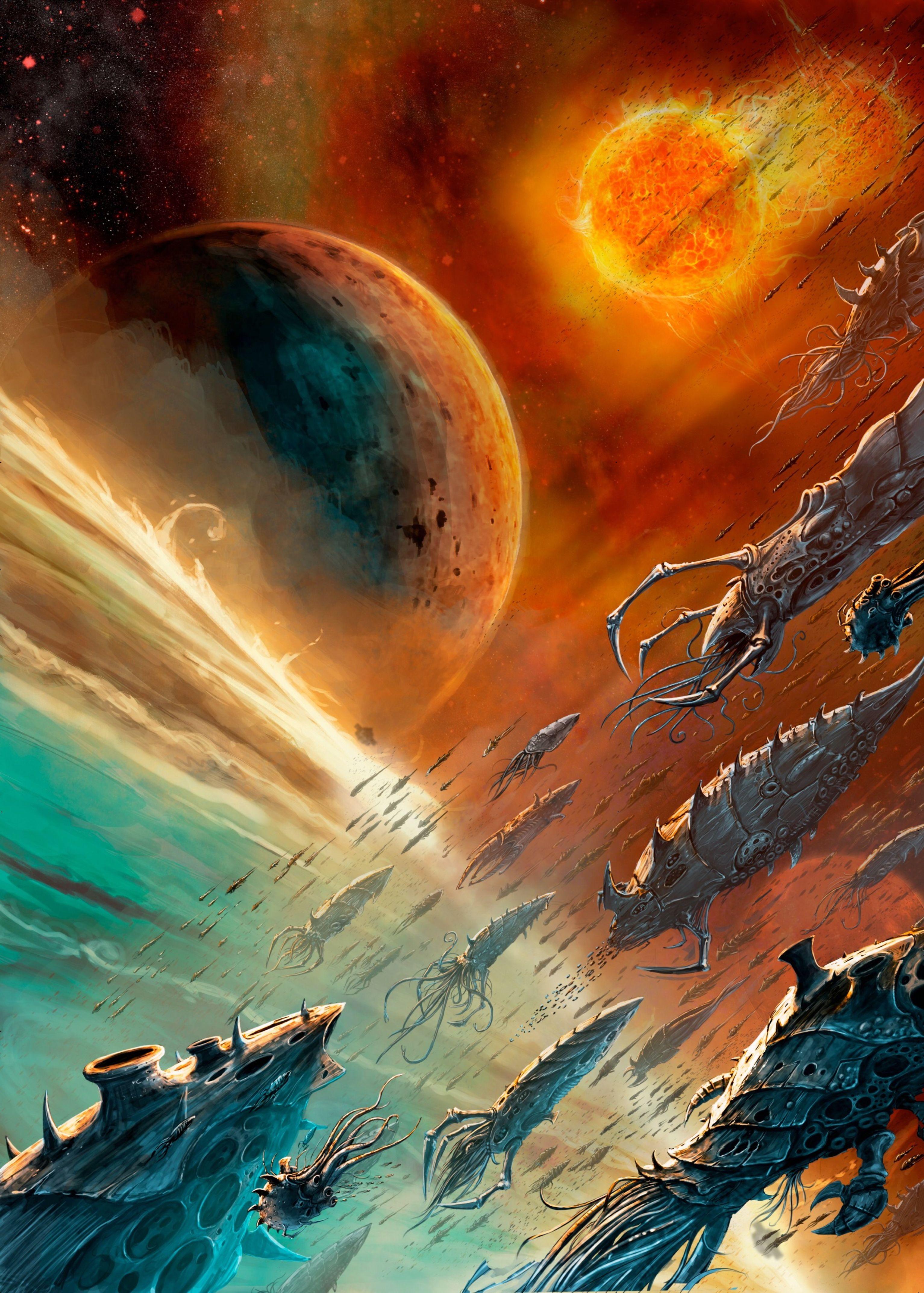 epic spaceship tyranids | Warhammer 40k artwork, Warhammer 40k tyranids, Warhammer