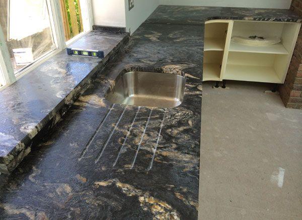 Cosmic Black Leathered Granite Worktop | Home: Kitchen in 2019