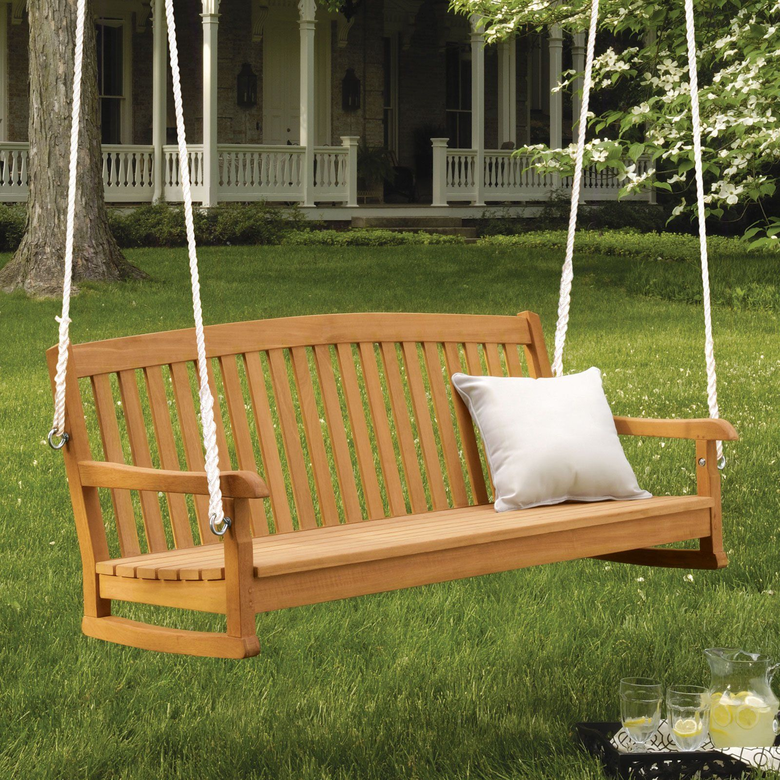 Have to have it oxford garden ft chadwick wood porch swing