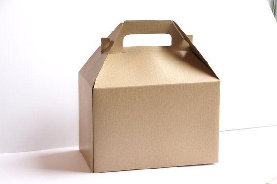 10 Kraft Gable Gift Boxes 8 X 4 7 8 X 5 1 4 Inches 12 50 Via Etsy