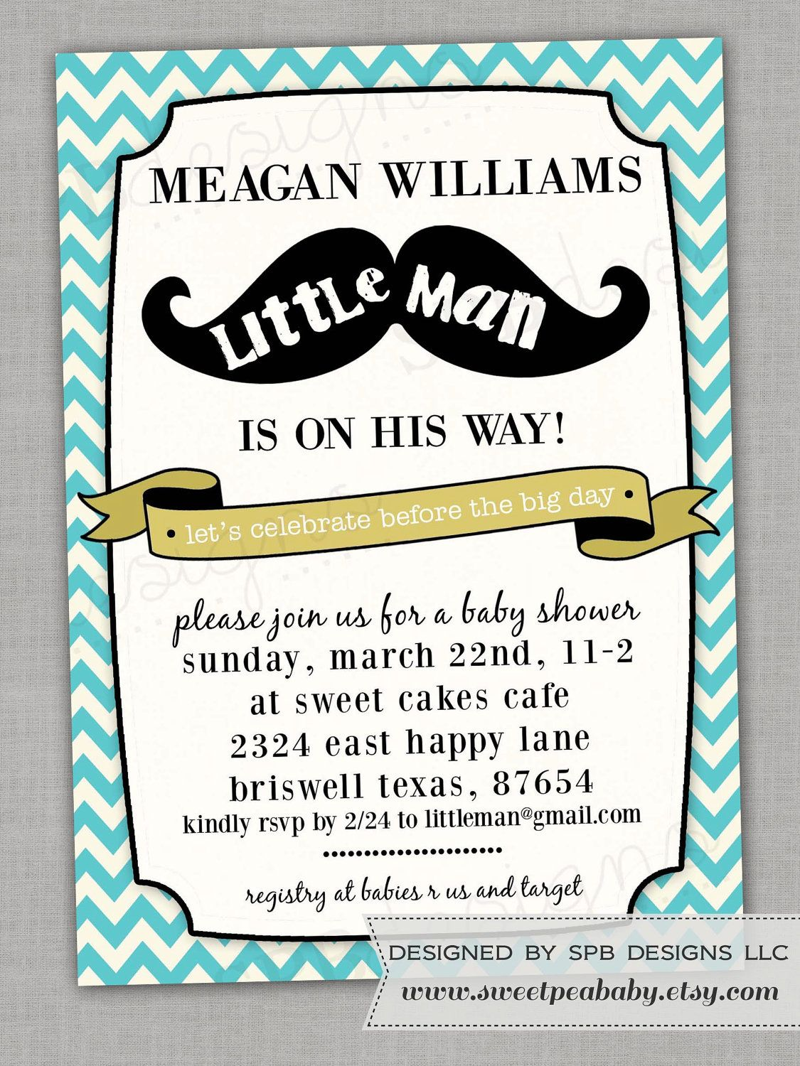Bow-tie instead of mustache {h} | Little Man Shower | Pinterest ...