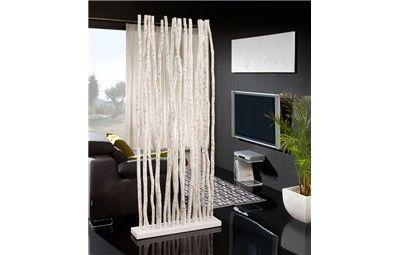 Biombo troncos caribe parab n separador de ambientes de ramas de madera decoraci - Biombos separadores de espacios ...