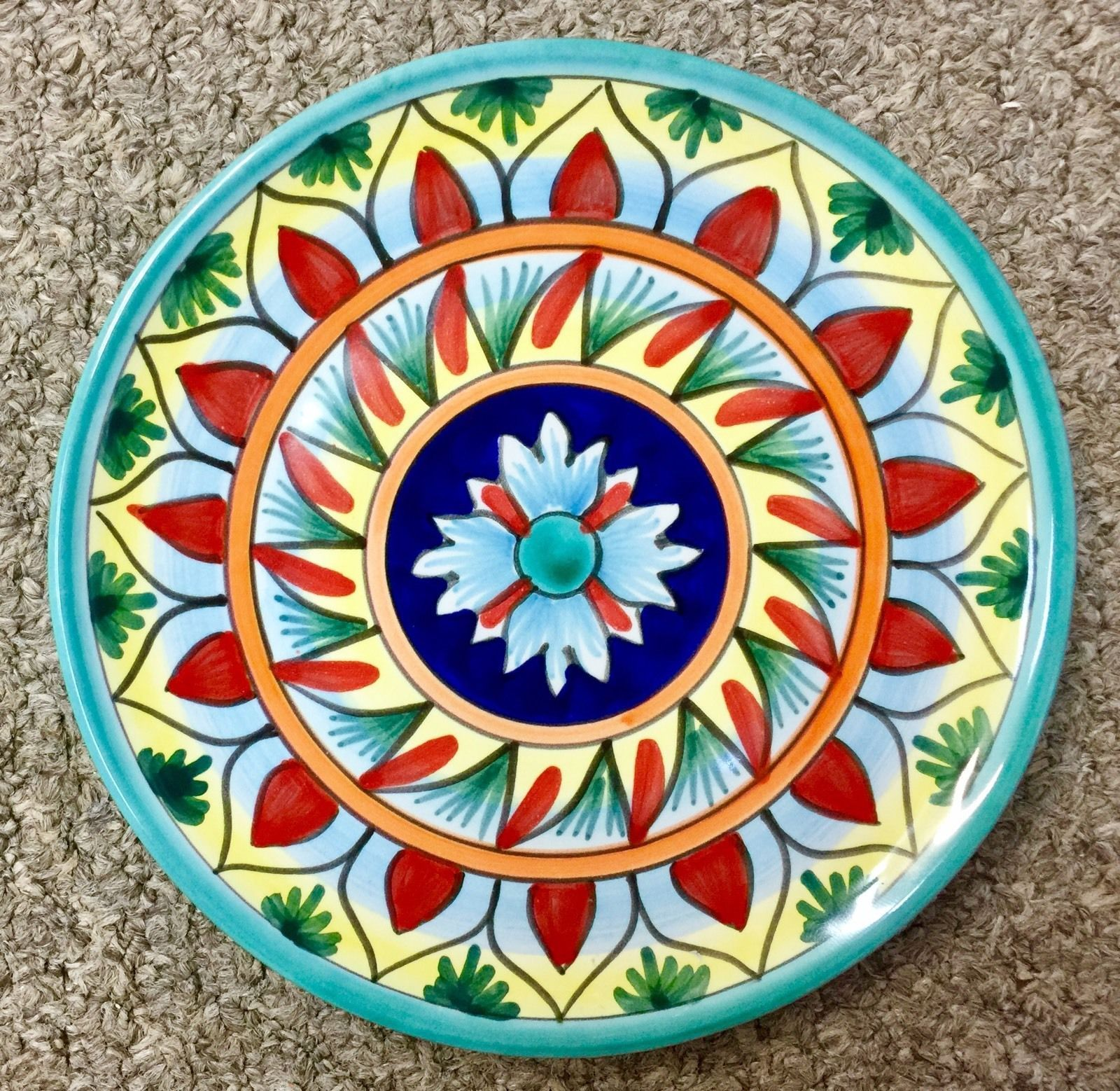 Vietri pottery sale - Vietri Pottery 10 In Plate Chicken Campagna Style Painted By Hand In Italy New