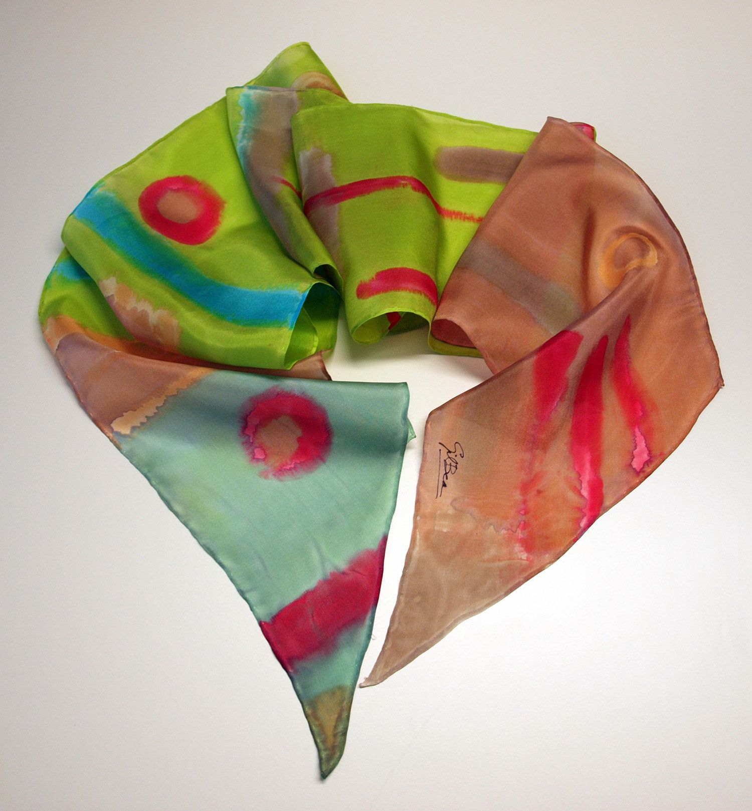 Hand Painted Silk Scarf Silk Scarf for WomenBirthday gift Ready to be shipped 78x7.8 in 200x20 cmUnique gift for women girlfriend mom