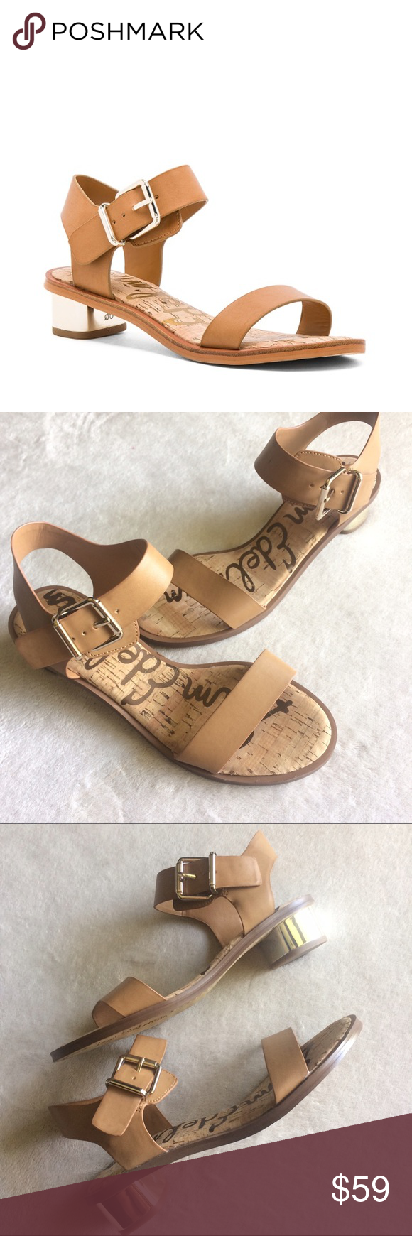 442e409910f6 Sam Edelman Trixie Block Sandal Brand new Sam Edelman Trixie block heel  buckle Sandal. A beautiful tan cognac color with gold hardware and heel.
