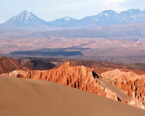 Atacama Desert, Chile The Atacama is one of the world's strangest landscapes — a desert that really gets no rain at all. Salt basins, sand a...