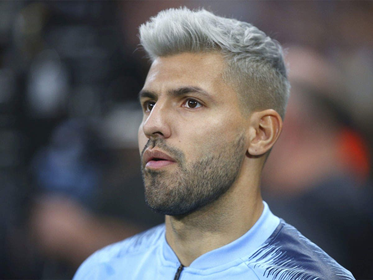 Pep Guardiola Could Be Without Sergio Aguero For Watford Clash Bleached Hair Men Men Hair Color Hair And Beard Styles