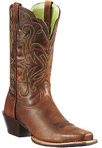 cd766917408a Ariat® Women s Sassy Brown Legend Punchy Square Toe Western Boot. I need  these.