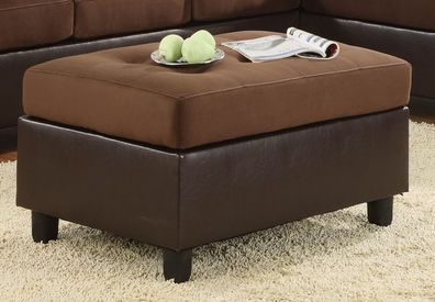 Homelegance Comfort Living Cocktail Ottoman Chocolate Brown