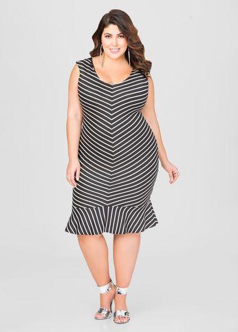 Chevron Flippy Hem Dress Perty Pinterest Dresses Plus Size