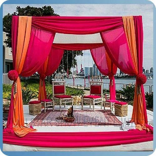Round Indian Wedding Mandap Designs