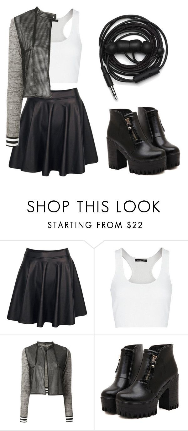 """""""Heartbreaker"""" by meowmeowmelody ❤ liked on Polyvore featuring Boohoo, MANGO, Aviù, Dr. Martens, Urbanears, women's clothing, women, female, woman and misses"""