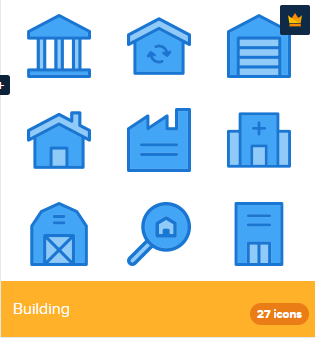 27 Premium Vector Icons Of Building Designed By Deemakdaksina Building Icon Icon Building