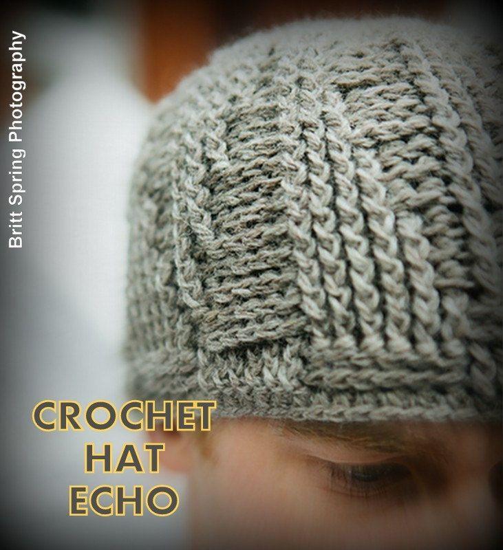 ECHO Man Hat USA Crochet PATTERN beanie for men Instant pdf download ...