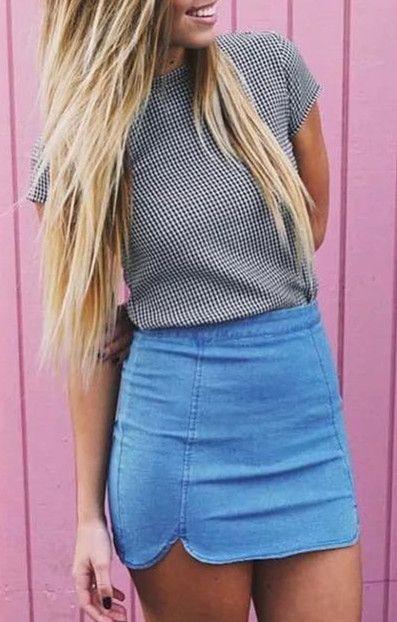 120869fd52 Denim Skirt Women Hot Sexy Tight Pencil Skirts Stretch Jupe | Cute ...