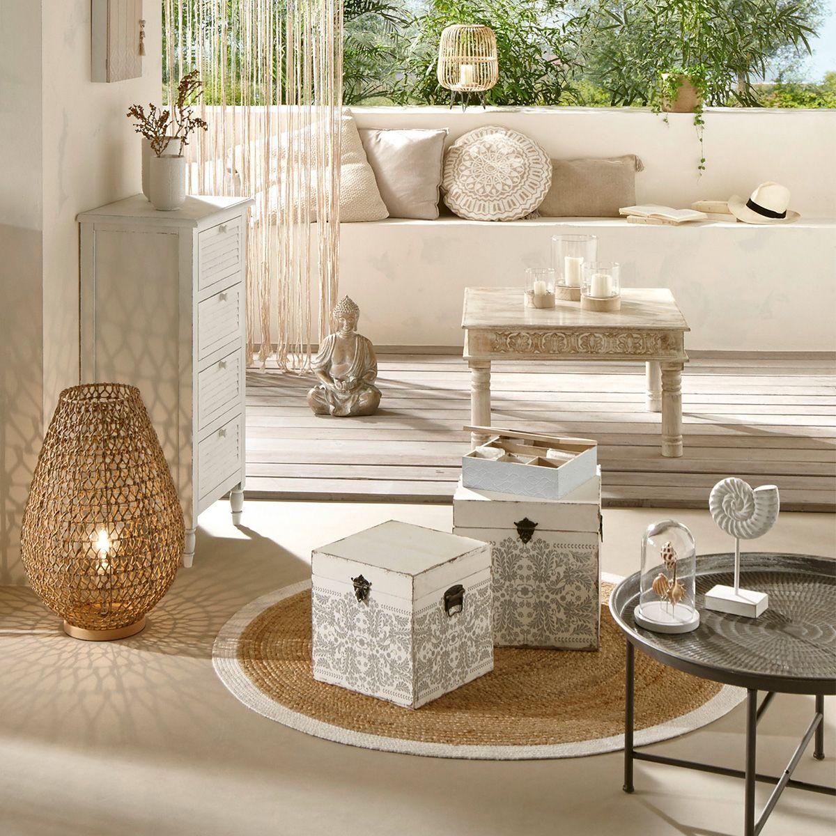 table basse ete bois de manguier
