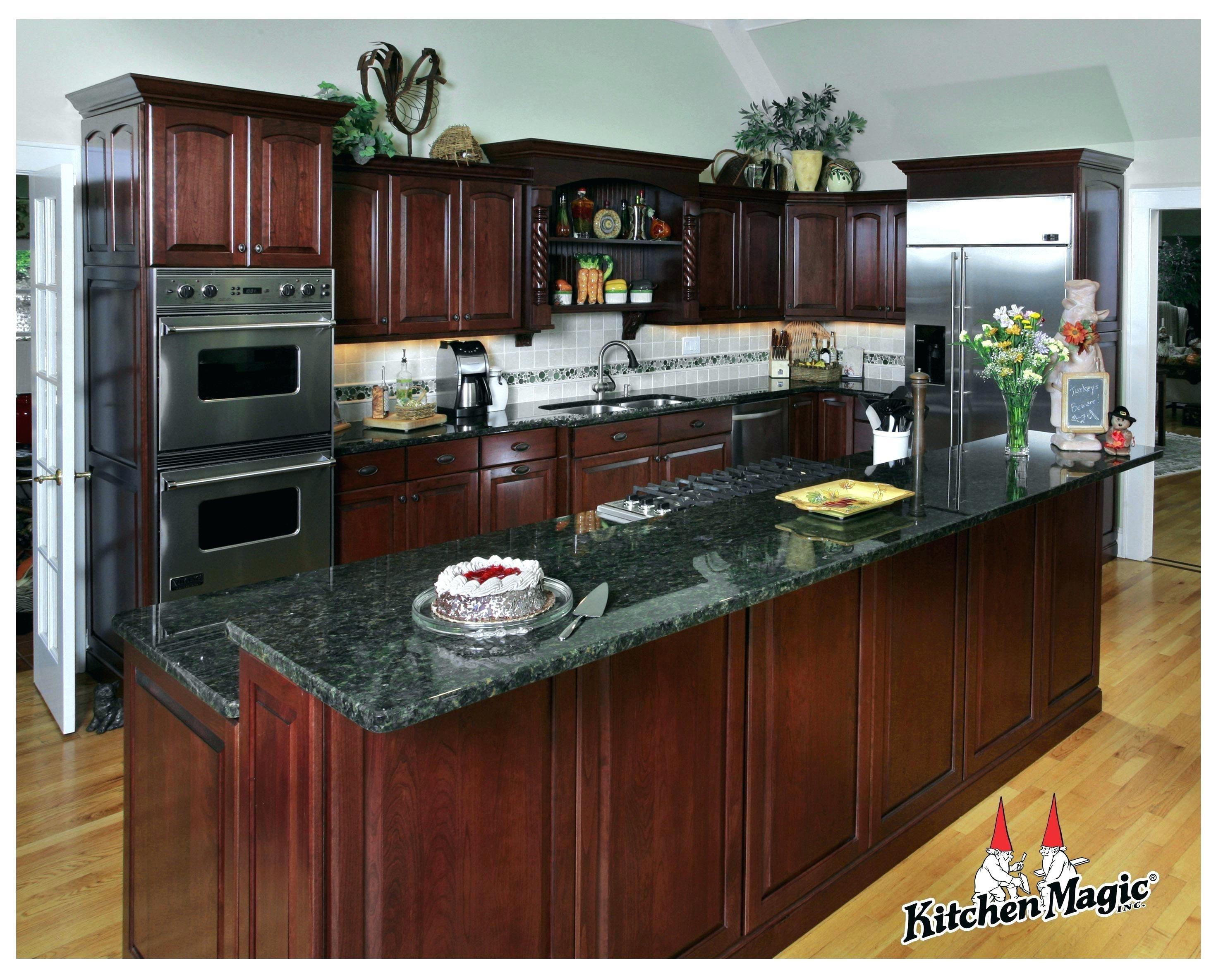Top 83 Plan Kirsche Holz Kuche Kabinett Turen Ideenreichtum Cherry Cabinets Kitchen Green Granite Countertops Wood Kitchen Cabinets