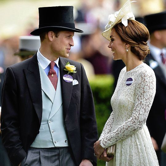 The Duke & Duchess of Cambridge attend the second day of the Royal Ascot horse racing meet in Ascot on June 15, 2016.