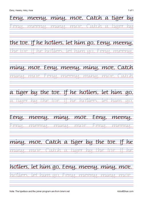 Italichandwriting Cursive Handwriting Practice, Handwriting Worksheets,  Kids Handwriting Practice