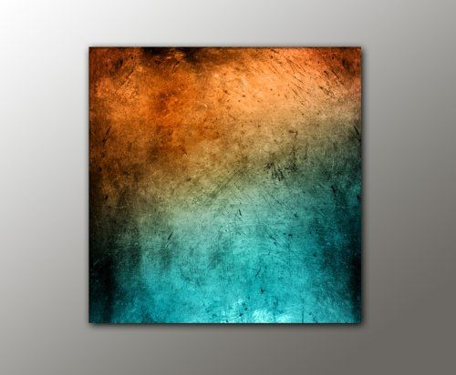 100x100 cm !!! - türkis orange + (Vintage_Style_13-100x100cm - trkis bilder frs schlafzimmer