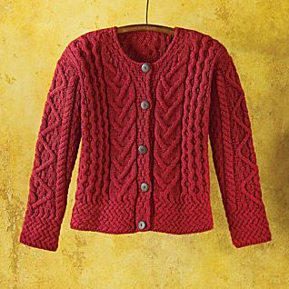 Women's Merino Wool Irish Cardigan | Merino wool, Sweater scarf ...