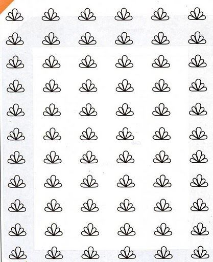 Template for making royal icing transfers. Resize your
