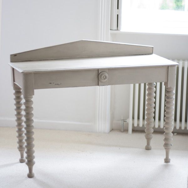 Shabby Chic Long Sofa Tables | Shabby Chic Console Table In Country Grey