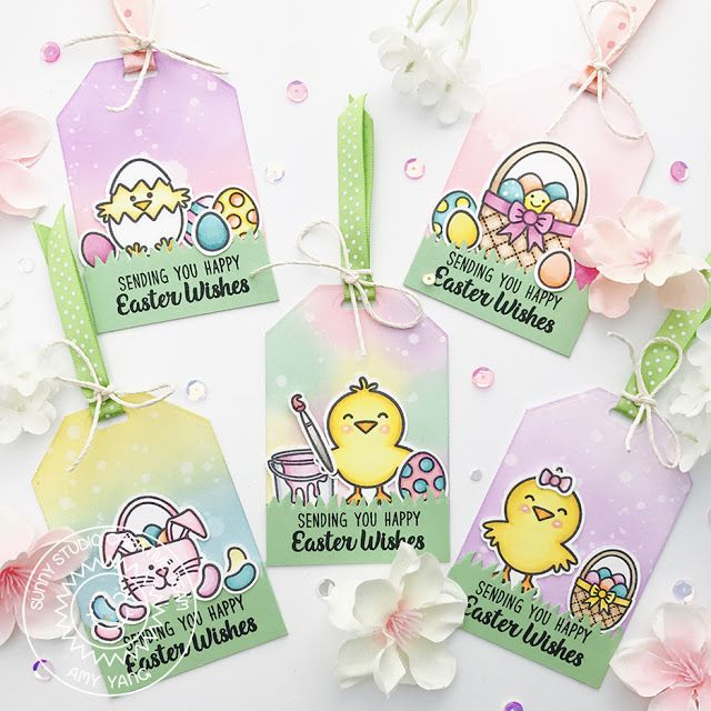 Sunny studio stamps a good egg and traditional tag topper easter sunny studio stamps a good egg and traditional tag topper easter gift tags by amy negle Gallery